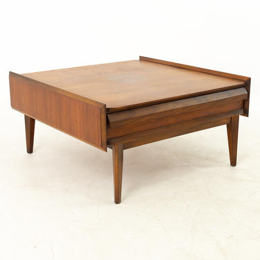 Lane First Edition Mid Century Walnut Square Coffee Table - mcm by ModernHill