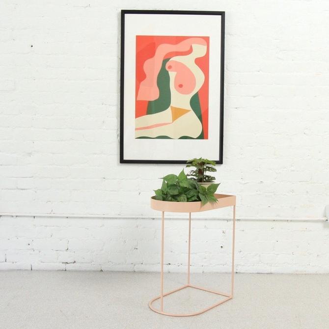 Pink Scandinavian Mod Side Table