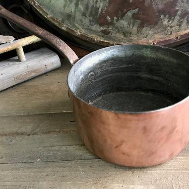 French Dehillerin Copper Saucepan, Paris, Large, Professional Quality, Culinary, Hallmarked, Gourmet Cooking, Rustic French Cuisine by JansVintageStuff