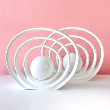80s Art Deco Halo Lamps - Each Sold Separately by BarelaVintage
