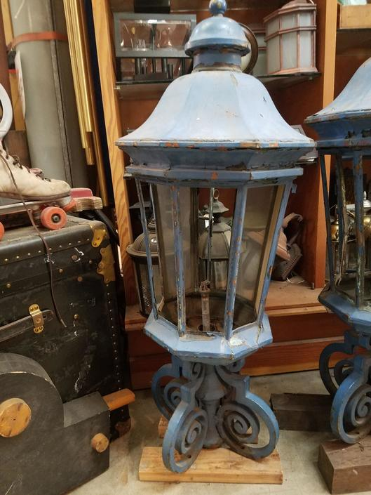 Blue Metal Outdoor Vintage Lighting From Earthwise