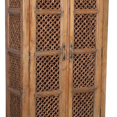 Vintage Tall Teak Jali Door Cabinet from Terra Nova Designs by TerraNovaLA