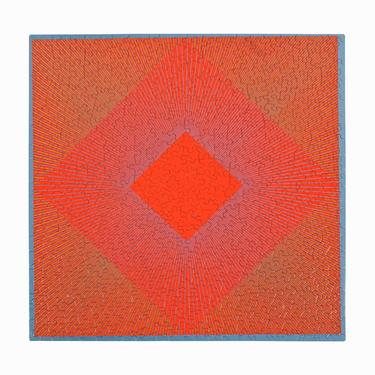 """1969 Richard Anuszkiewicz Jigsaw Puzzle """"Splendor of Red"""" Op Art Puzzles Abstract by VintageInquisitor"""