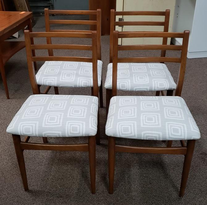 Item #V488 Set of Four Mid Century Modern Dining Chairs c.1960