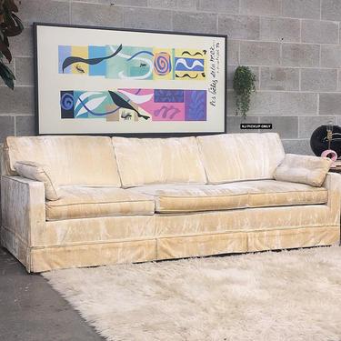 NJ PICKUP ONLY ———— Vintage Crushed Velvet Sofa by RetrospectVintage215