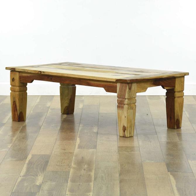 Rustic Solid Acacia Wood Coffee Table, Jaipur