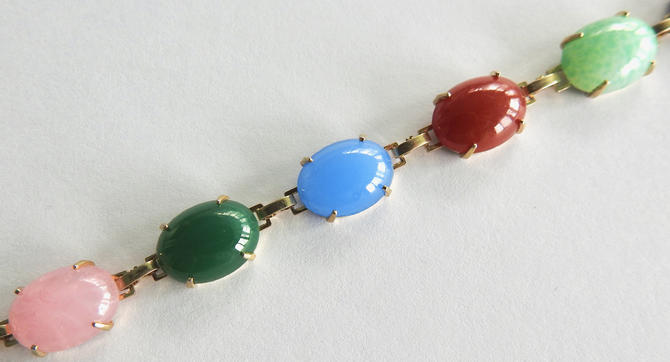 Glass Cabochon Bracelet by LegendaryBeast