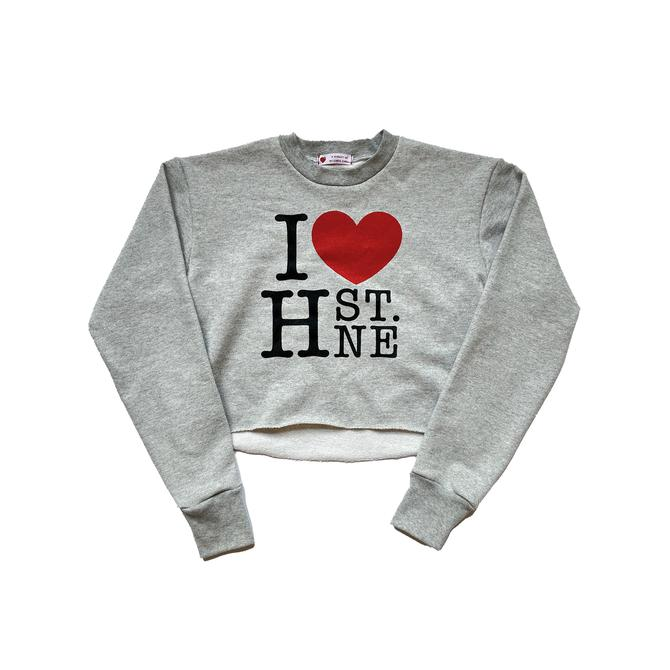 I  H ST. NE Crop Sweatshirt (Gray)