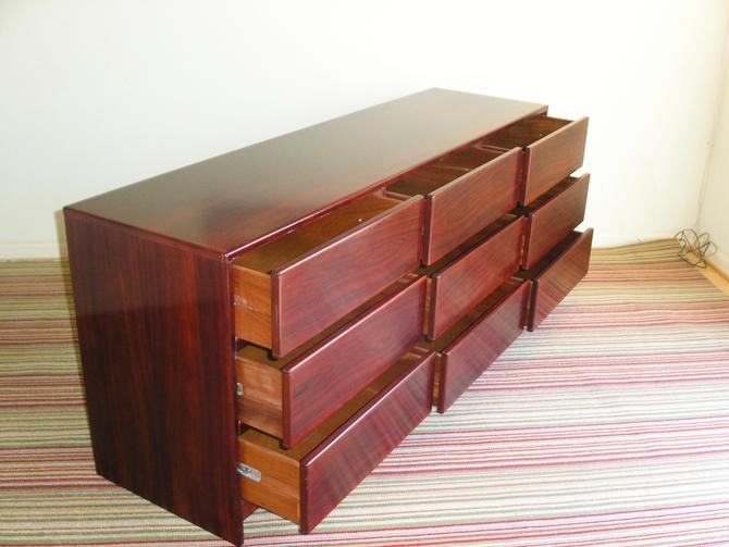 Long High Quality Danish Modern Rosewood Dresser / Credenza by SCAN COLL High Quality = Dyrlund, Torring, Kibaek by RetroSquad