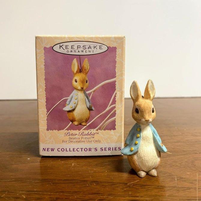 Vintage 1996 Beatrix Potter Peter Rabbit Hallmark Keepsake Ornament by OverTheYearsFinds