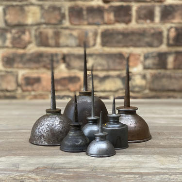 Vintage Hand Oiler Lot Rustic Garage Decor by NorthGroveAntiques