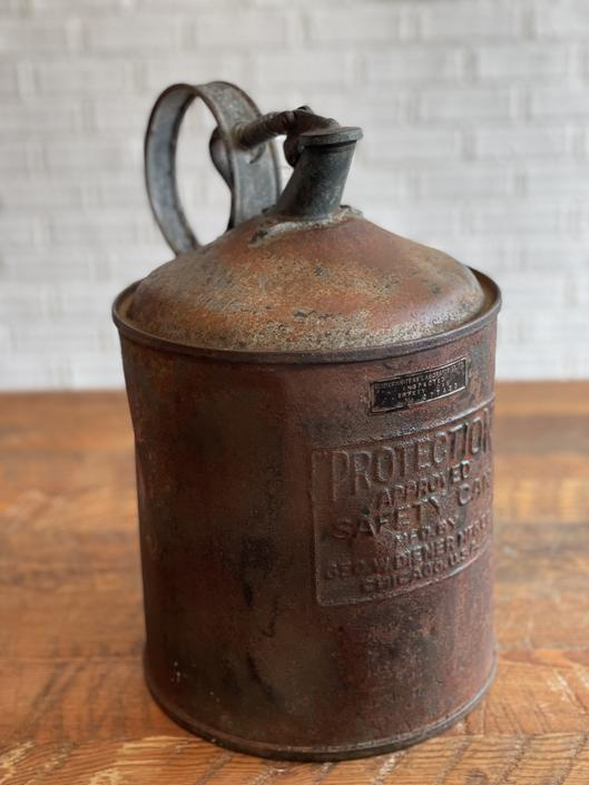 Vintage Inspector Safety Can