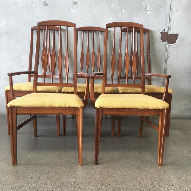 Mid Century Modern Dining Chairs - Set of 5