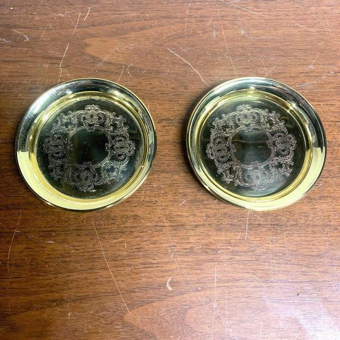 Vintage Baldwin Brass Coasters Pair by OverTheYearsFinds