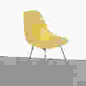 Eames Yellow  Shell Chair Herman Miller Fiberglass Shell Chair on H base by HearthsideHome