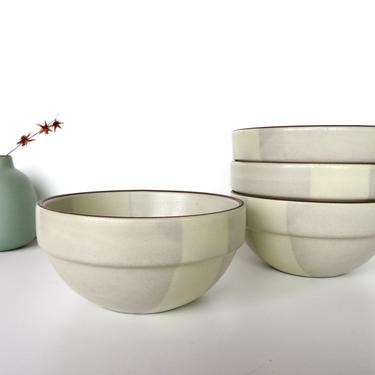 """Set of 2 Vintage Heath Ceramics 5 1/2"""" Cereal Bowl In Birch, Edith Heath Ceramics, Rim Line Stacking Cereal/Soup Bowl, 3 sets available by HerVintageCrush"""