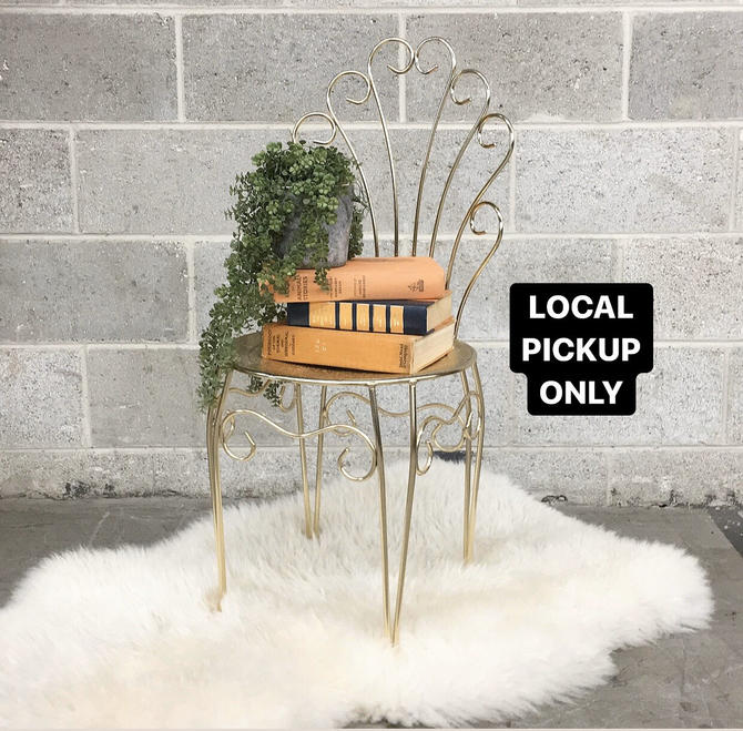 LOCAL PICKUP ONLY --------- Vintage Metal Chair by RetrospectVintage215