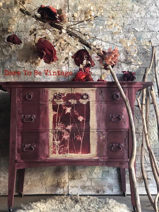 Gorgeous Bohemian Hand Painted Dresser - Vintage Hand Painted Dresser - Floral Furniture - Hand Painted - Painted Furniture by DareToBeVintage