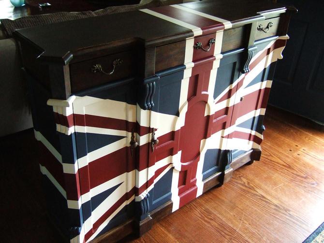 Old English Union Jack Buffet by Artisan8