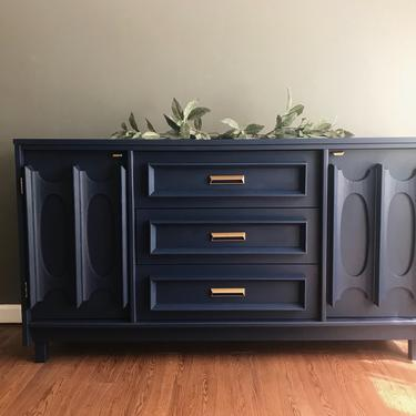 SOLD *** MCM - Mid-Century Sideboard Buffet by Bassett Furniture - Entertainment Center by madenewdesignct