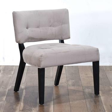 Contemporary Art Deco Slipper Accent Chair