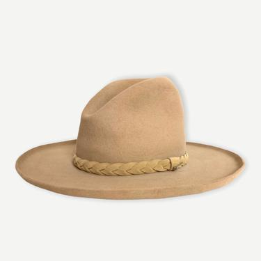 Vintage STETSON Cowboy Hat ~ size 7 3/8 ~ Pencil Curl ~ Gus / Tom Mix ~ Wide Brim ~ Western ~ 4X Beaver ~ Fur Felt by SparrowsAndWolves