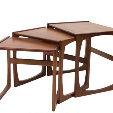 1960's Mid-Century Modern G Plan Quadrille Teak Wood Nesting Tables! - Set of 3 by LynxHollowAntiques