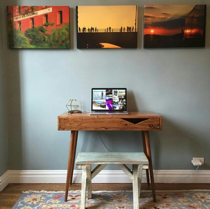 """Mid Century Desk with Drawer 36"""" by OrWaDesigns"""