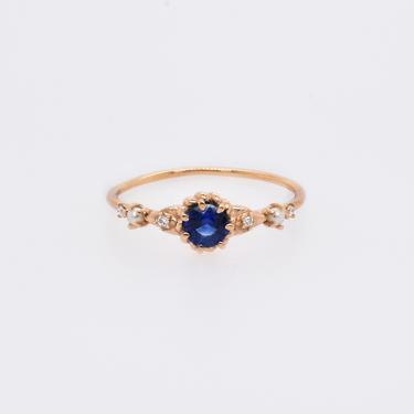 Clara Sapphire, Pearl, & Diamond Ring