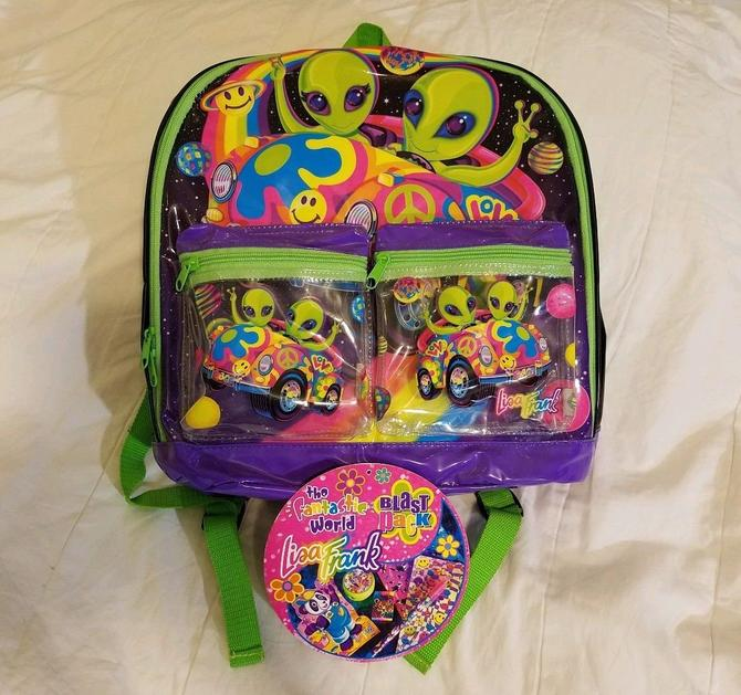 35ec377ff9c5 90s Lisa Frank Alien Backpack Full Size