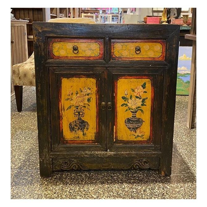 """Asian decorated cabinet 30"""" wide / 18"""" deep / 34"""" height"""