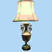 Silver-on-Brass Table Lamp