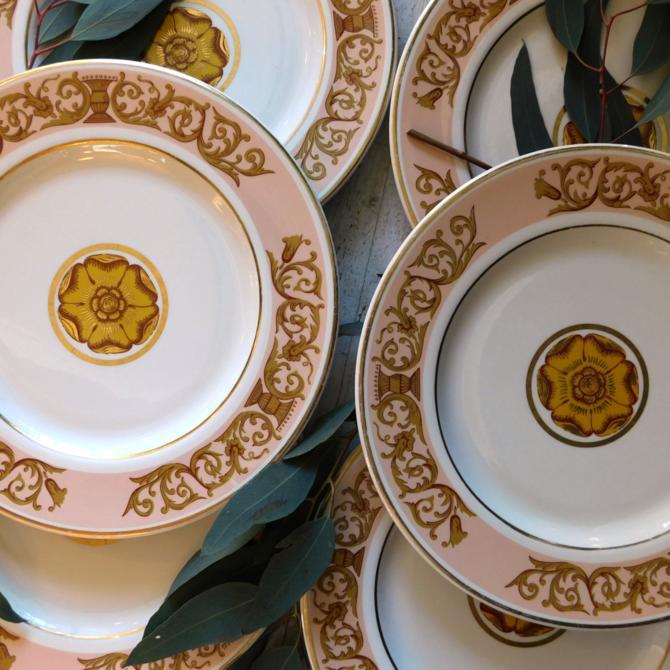 Florentine Vintage Ceramic Dinner Plates (set of 6)