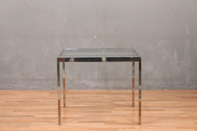 Sleek Chrome & Glass End Table – ONLINE ONLY