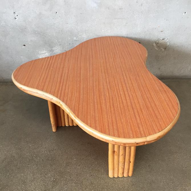 Vintage Tiki Bamboo Coffee Table