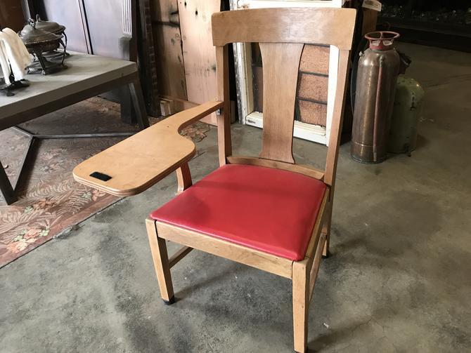 Oak School Desk + chair