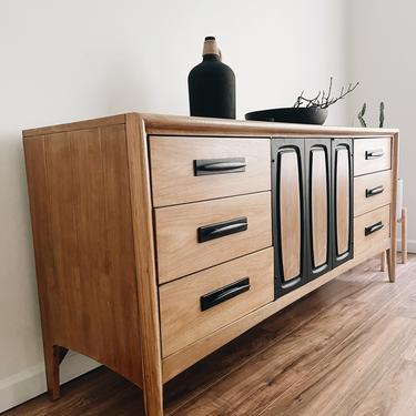 Natural Wood + Matte Black Mid-Century Modern Dresser by madenewdesignct