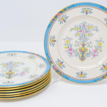 Set of 7 Blue Tree Dessert Plates by Lenox by CapitolVintageCharm