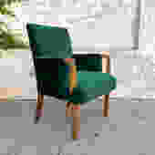 Green Velvet Art Deco 1940's Armchair