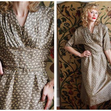 1950s Dress // Adele Simpson Silk Dress // vintage 50s dress by dethrosevintage