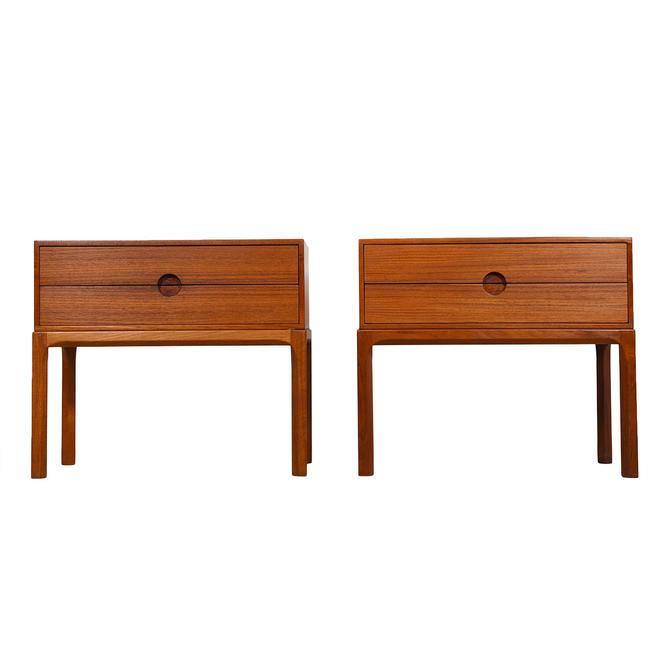 Pair of Danish Modern Kai Kristiansen Teak Nightstands / Side Tables
