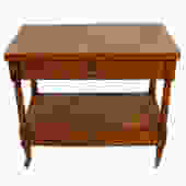 Heritage Henredon Expanding Walnut Flip-Top Bar / Serving Cart