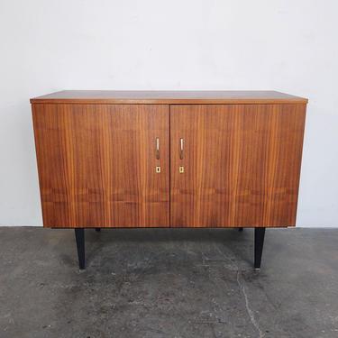 Deep Mid Century Modern Walnut Cabinet with Open Back by IridiumInteriors