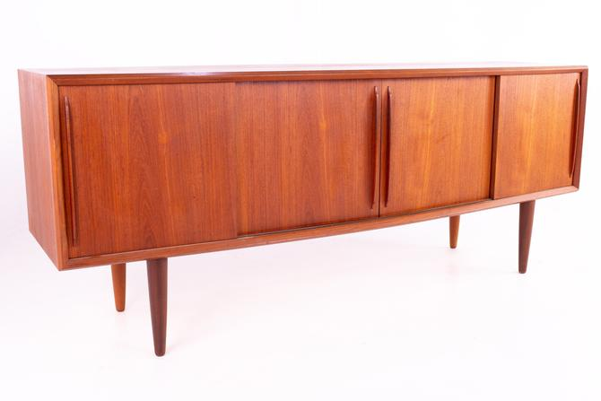 Svend Madsen Curved Bow Front Danish Mid Century Teak Credenza Sideboard Buffet - mcm by ModernHill