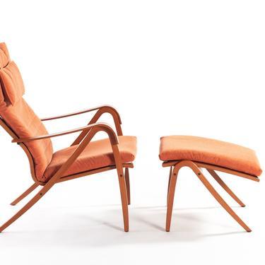 Vintage Rimbo Lounge Chair & Ottoman by Simo Heikkila for Ikea by ABTModern