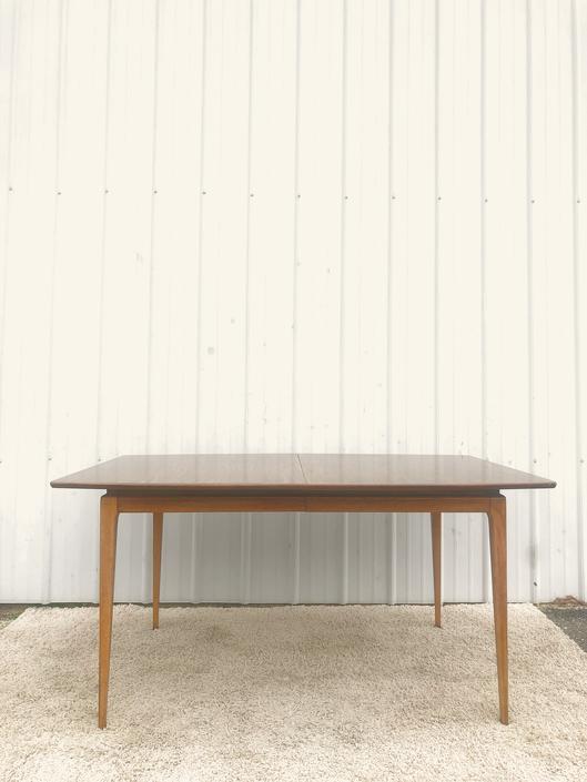 Mid Century Modern Walnut Dining Table