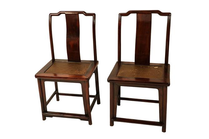 Pair Ming Dynasty style 19 century Chinese Chairs by Marykaysfurniture