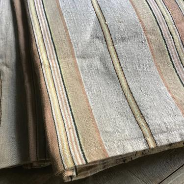 French Linen Ticking Fabric, Pin Stripe, Sewing Projects, French Textiles by JansVintageStuff