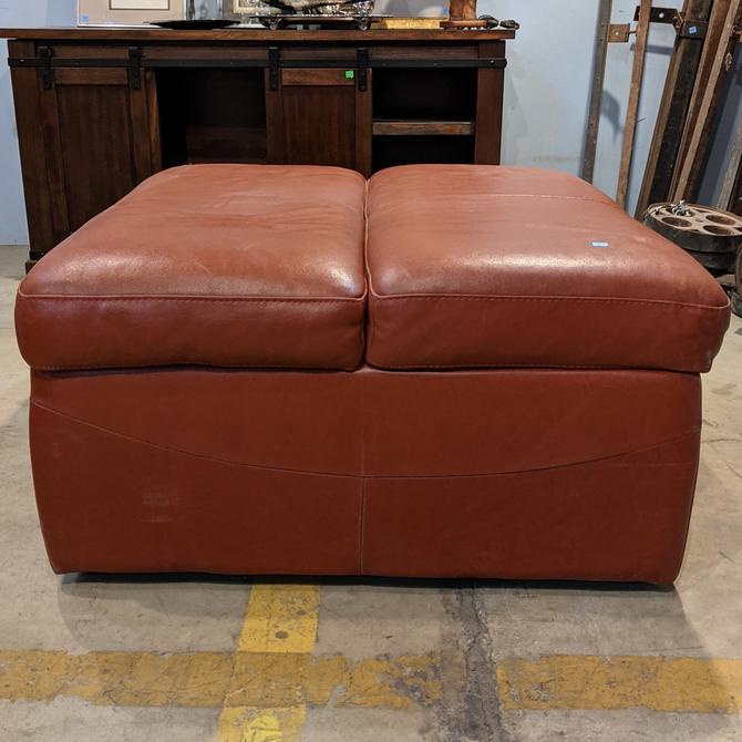 Leather Sleeper Ottoman