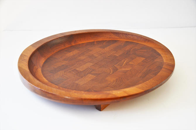 "Vintage Danish Modern Teak and Walnut 13"" Cutting Board Designed by Jens Quistgaard for Dansk by SourcedModern"